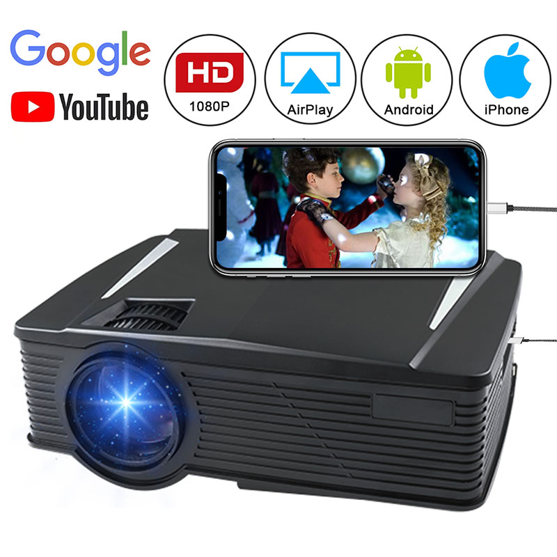 HD 1080P Projector HDMI USB VGA AV Audio Out For Mobile Phone Home Outdoor Gaming SL@88HD 1080P Projector HDMI USB VGA AV Audio Out For Mobile Phone Home Outdoor Gaming SL@88