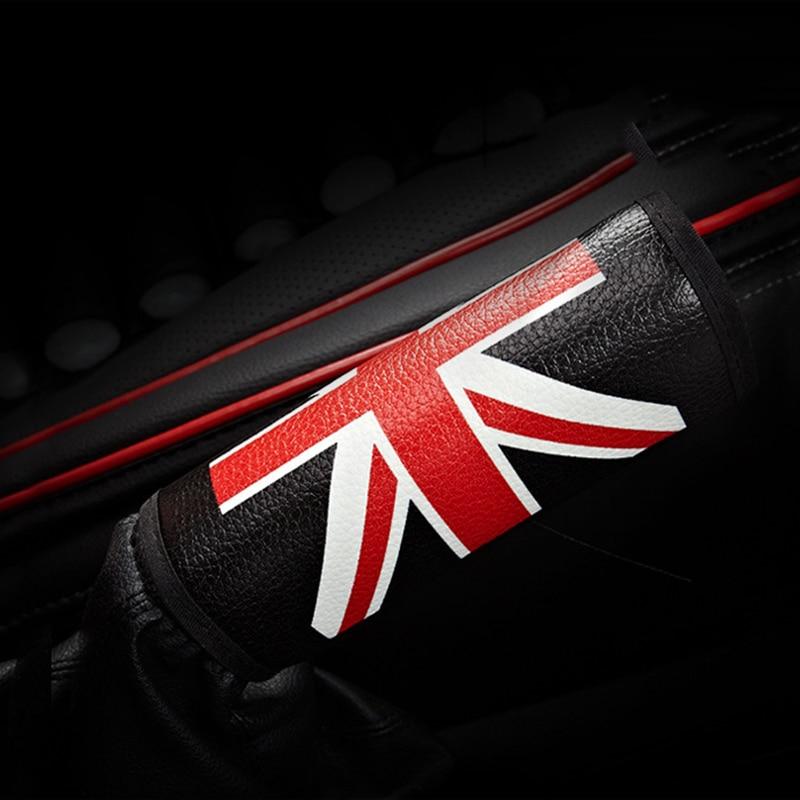 Car Handbrake Cover Leather For BMW E39 E90 F30 F10 E34 E30 Mini Cooper Audi A4 A3 A6 C6 Q5 A5 Q3 Auto Interior Accessories