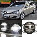 Eemrke стайлинга автомобилей для Opel Astra H 2004 - 2014 2 в 1 из светодиодов противотуманные фары лампы дрл с объективом дневные ходовые огни