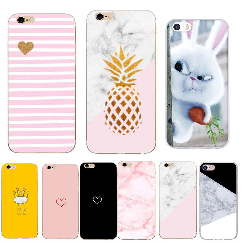 Pineapple Case For Iphone 6 S Phone accessories Pattern Fundas Soft Silicon Cover For iphone 6 7Plus 8Plus 5 5se se iphoneX case