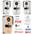 Wireless SD Card Video Recording Video Door Phone+RFID Keyfobs+Indoor Bell Wifi IP Door Bell POE Camera For ONVIF Connect NVR