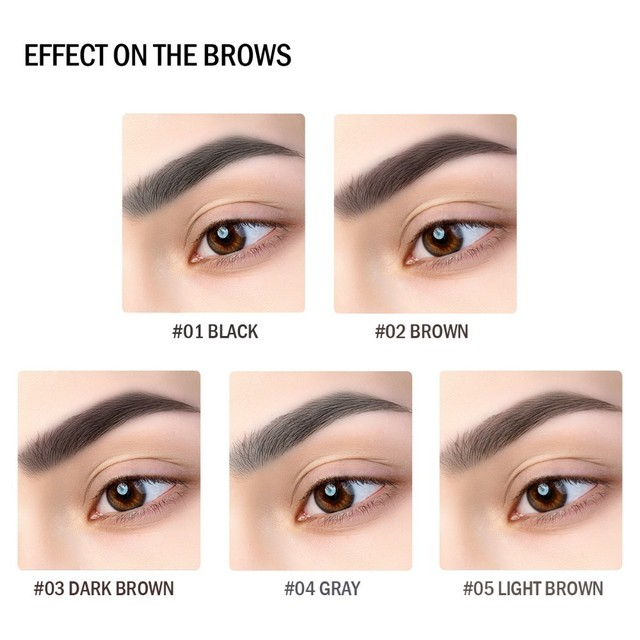 BEAUTYBIGBANG Eyebrow Pencil Toothbrush Head Eye Makeup Durable Waterproof Paint Tattoo Eye Brow Pen Long Lasting Make Up Tool 2