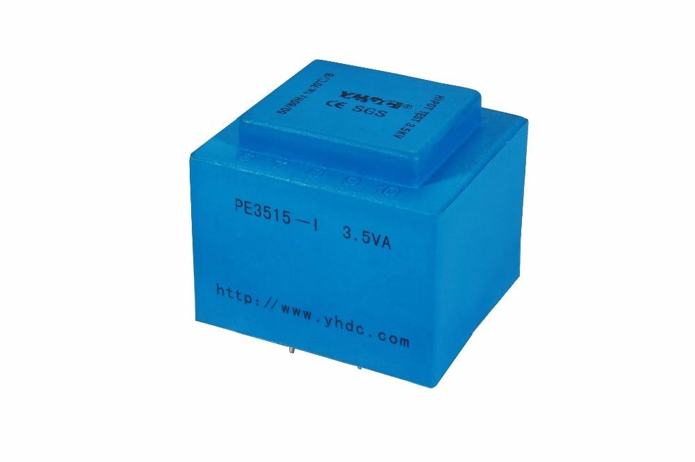 PE3515-I   3.5VA 110V7.5V Expory resign encapsulated safety isolating transformer PCB Welding transformer power transformer
