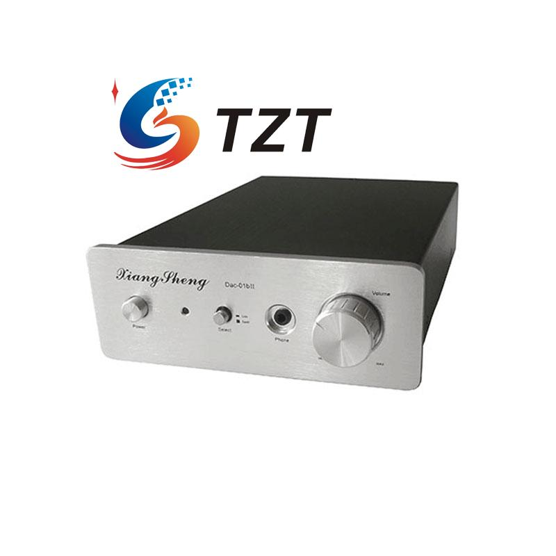 DAC-01BII Digital Decoder Amplifier Headphone Amp USB SPDIF DAC HIFI Coaxial Optical 24bit 96khz Silver/Black hi fi cm6631a 192khz to coaxial optical spdif convertor dac board 24bit usb 2 0