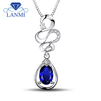 Fantastic Jewelry Oval 5x7mm Natural Tanzanite Diamonds Solid 18Kt White Gold Pendant WP057