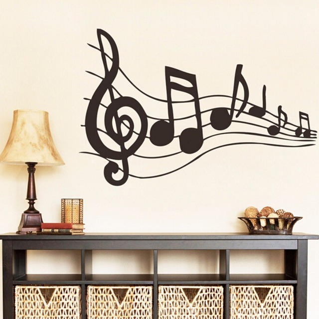 Music Sticker Music Is My Life Theme Music Bedroom Decor U0026 Dancing Music  Note Removable Wall
