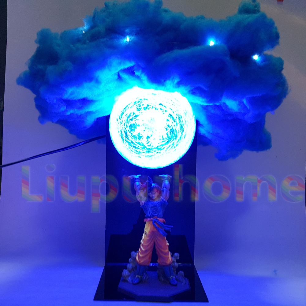 Dragon Ball Son Goku Genki damaSpirit Bomba Ha Condotto La Luce Della Lampadina Giocattoli Anime Dragon Ball Super Luci Led Decorativa Lampada Da Tavolo