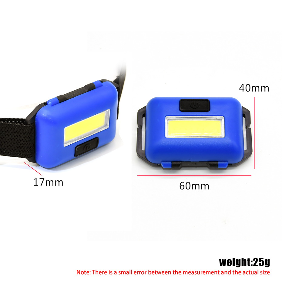ANYIGE Mini 4 Modes Waterproof COB LED Flashlight Outdoors Headlight Headlamp Torch Emergency Lantern for Outdoor Activities AAA 3