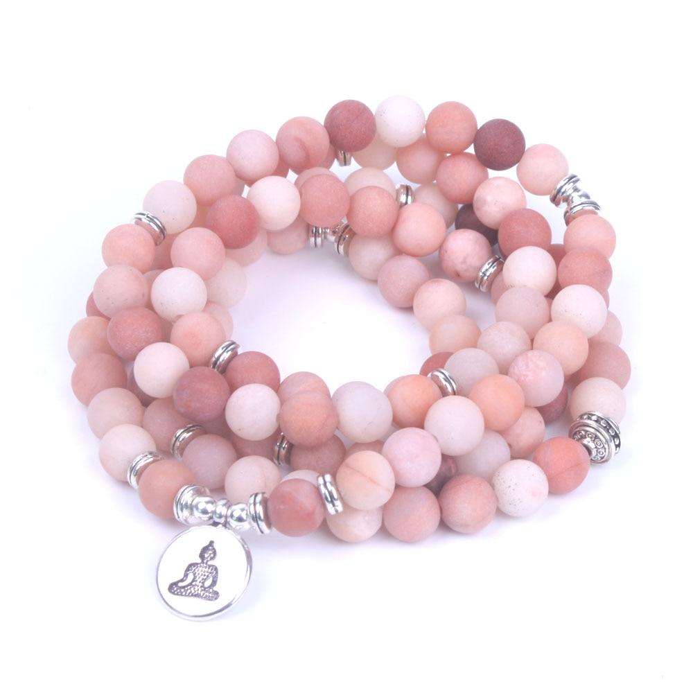 Rhodonite Mala Beads 5