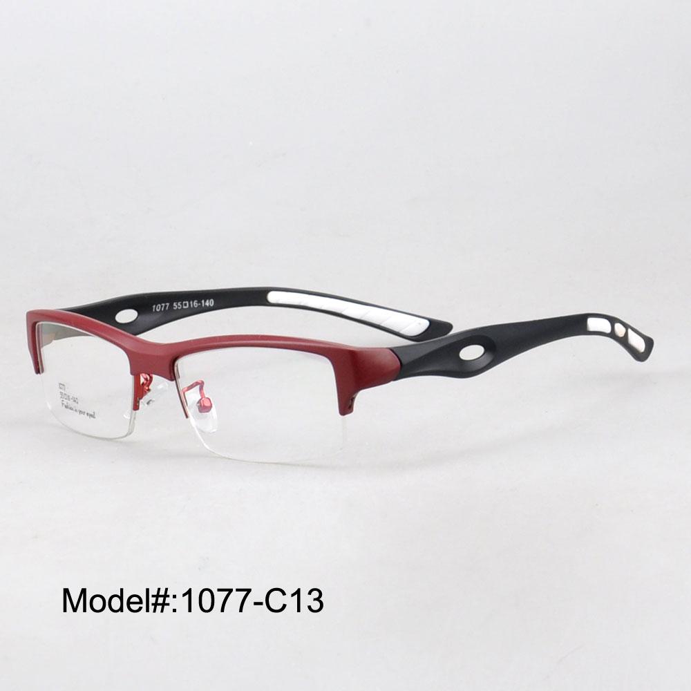 Sports frames for eyeglasses - 1077 Man S Sports Eyewear Tr90 Optical Frames Can Do Prescription Lens 5 Colors Choice China