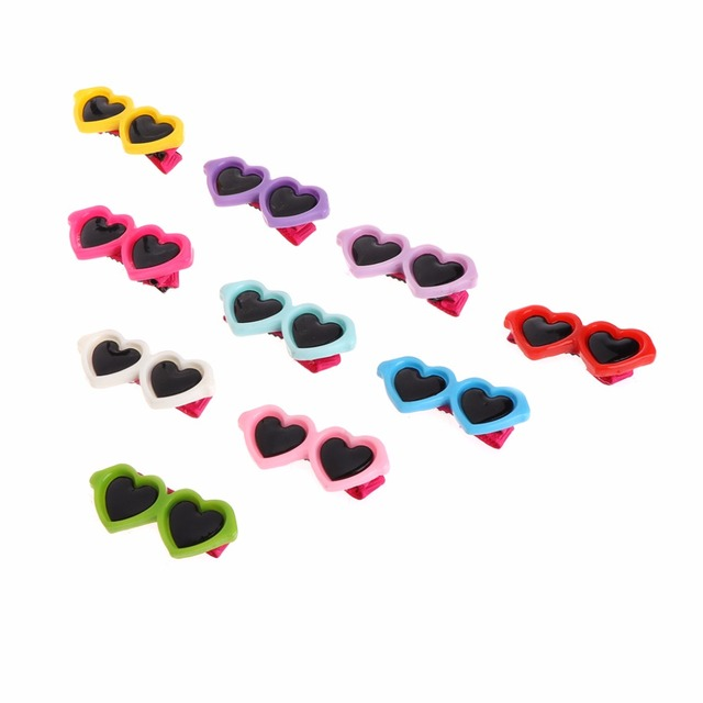 Best & Cheap Hair Clips Heart Glasses Grooming Supplies for Dogs & Cats Hair Accessories 2