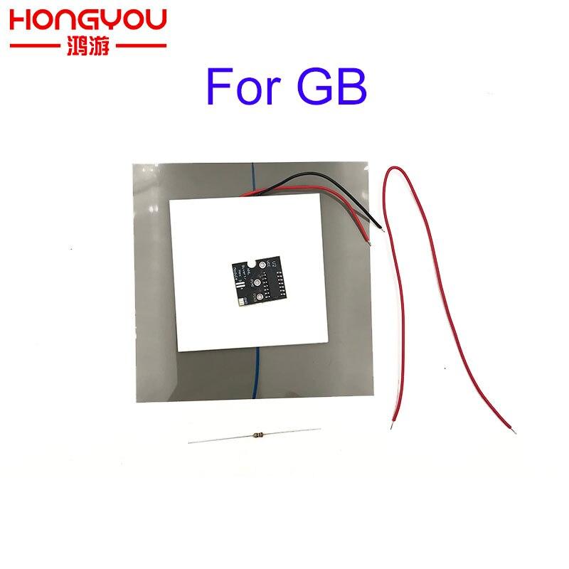 Diy bivert pcb módulo para nintendo gameboy DMG-01 console backlight invertido hex mod polarizador filme