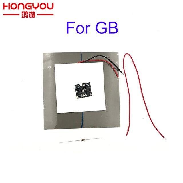 وحدة PCB Bivert ذاتية الصنع لنينتيندو غيم بوي وحدة التحكم في DMG 01 وحدة التحكم الخلفية اللامعة المستقطب
