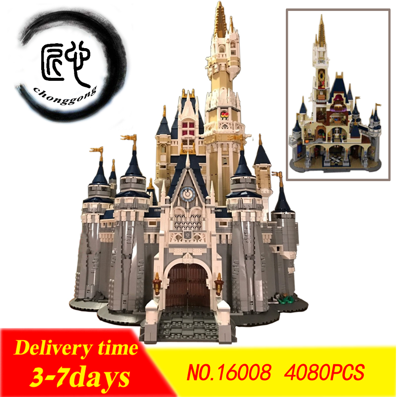 4080pcs Cinderella Princess Castle City fit princess dream castle figures Building Block bricks Kid DIY Gift