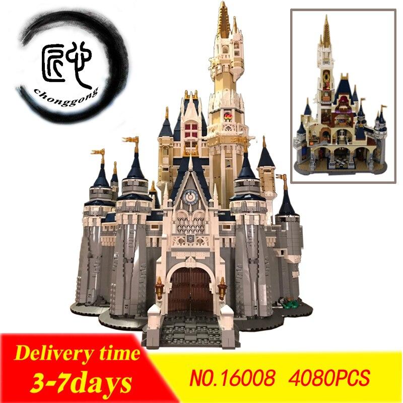 4080 pcs figuras Cinderela Princesa Castelo Cidade fit legoings sonho da princesa castelo Building Block bricks DIY Criança Brinquedo de Presente 71040