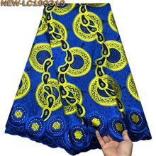 Королевские синие Стразы высокого качества швейцарская вуаль кружевная ткань в швейцарской хлопок африканская сухая хлопковая кружевная ткань JRE02