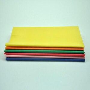 Image 3 - Nappe de Table en plastique jetable, 137x183cm, décoration de fête, couleur unie, rouge, rose, Orange/bleu/jaune/vert, tissu imperméable