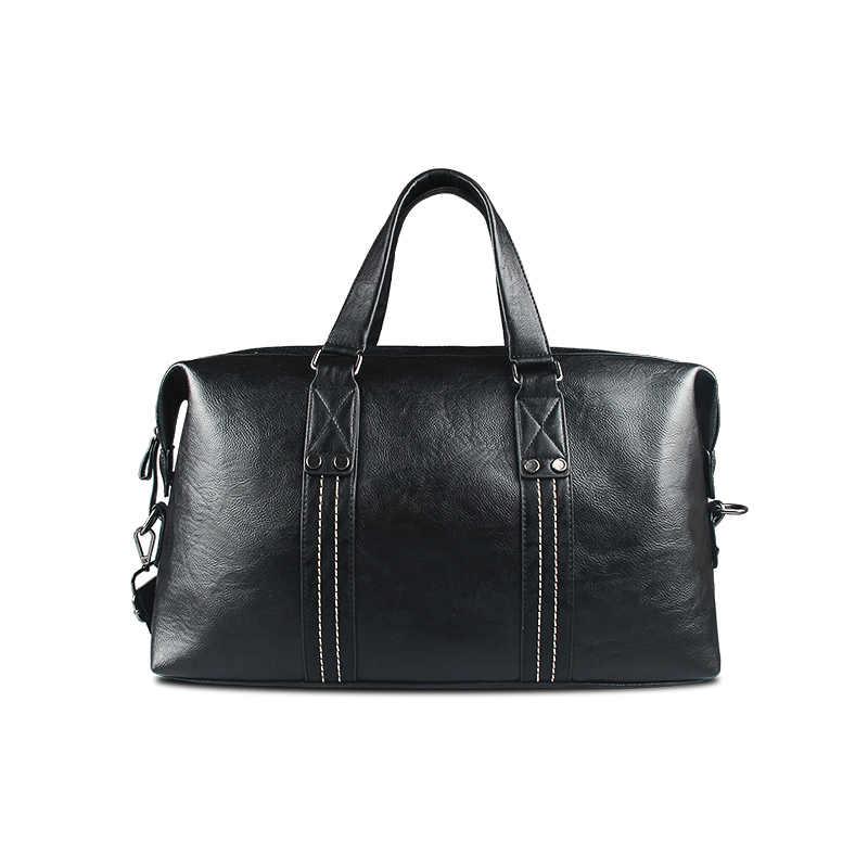 8bd35726261d ... 2018 High Quality Small Business Men leather travel duffle bag sac de  voyage Cossbody Men large ...
