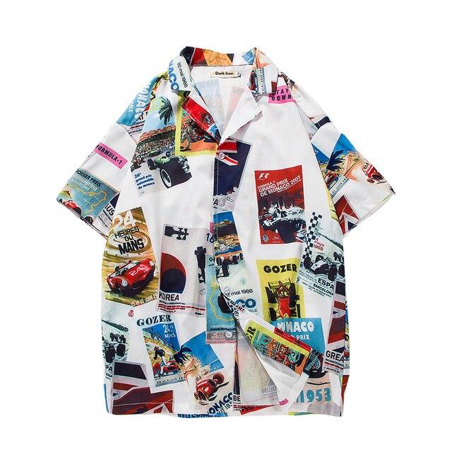 b0bda35a849 Mens Beach Hawaiian Shirt Tropical Summer Short Sleeve Shirt Men Brand  Clothing Casual Loose Cotton Button