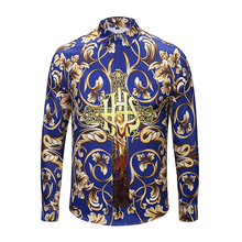 XIMIWUA New Arrival Luxury Shirt Mens Clothing Fashion Men Shirts Floral Print High Quality Slim Fit Camisas Para Hombre