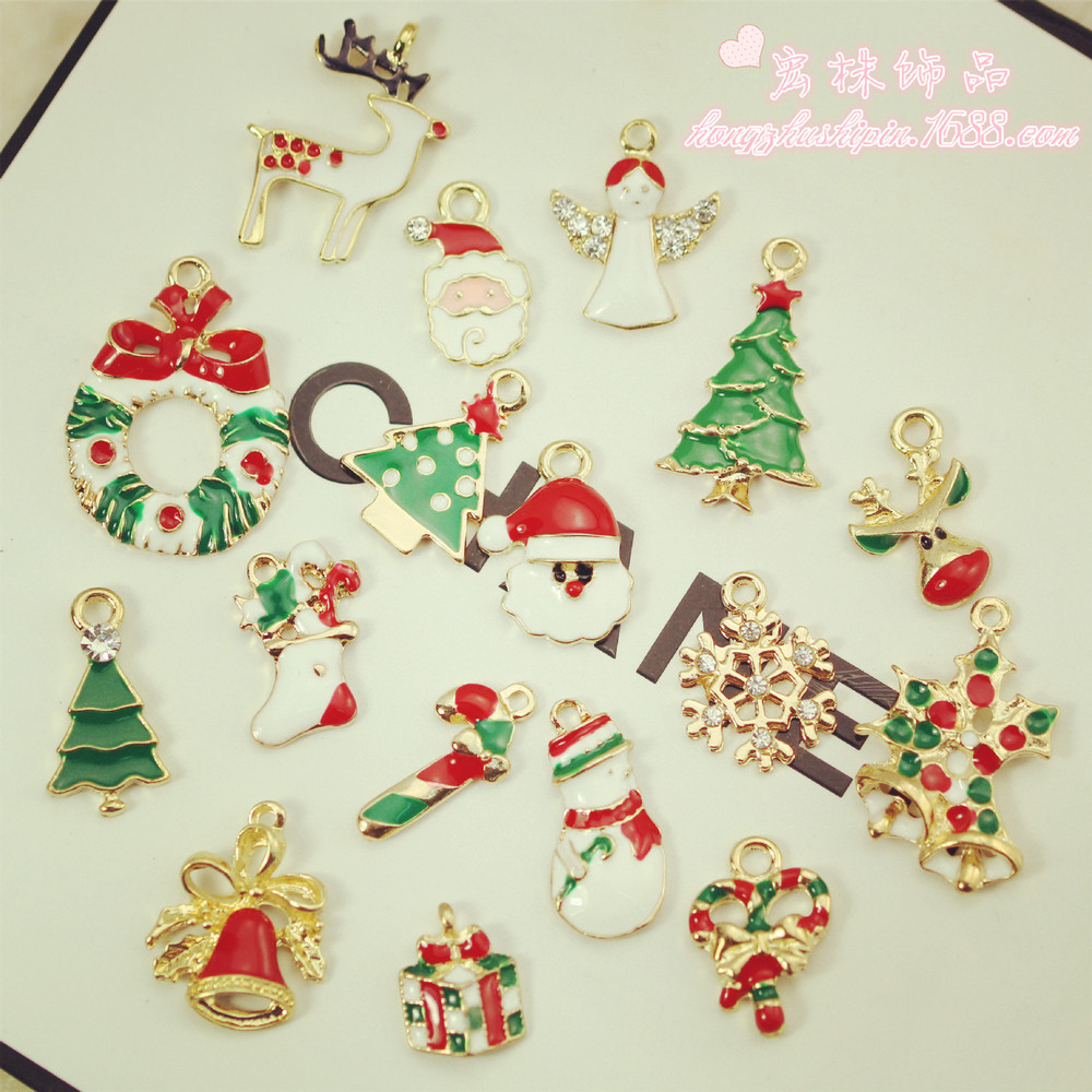 Hair stylist christmas ornaments - 2015cute Christmas Ornaments Dripping With Diamond Hair Accessories Decorative Accessories Bracelet Necklace Accessories Diy China