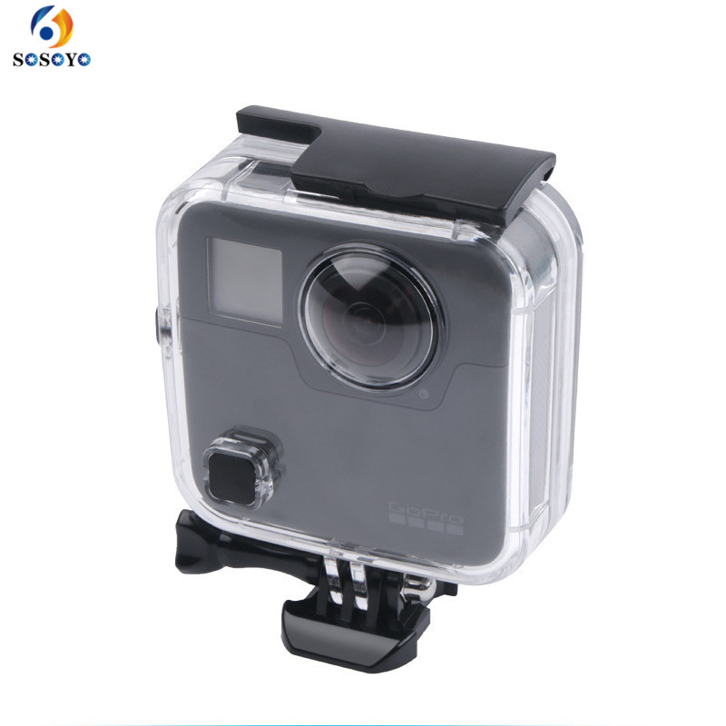 Underwater 45M Waterproof Case Housing Diving protective shell cover For GoPro Fusion 360 water sports Action