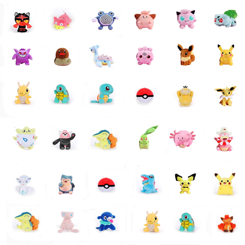 27 Styles Pikachu Popplio Wartortle Torchic Eevee Cute Doll Plush For Children Gift  Cartoon Character Plush Toys Around 20 Cm