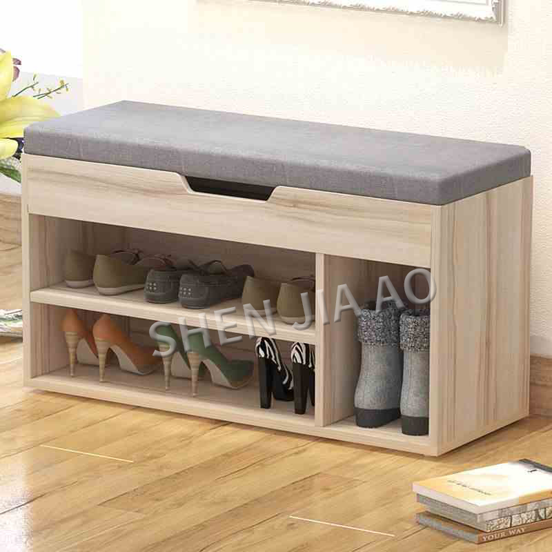 Multifunctional Cloth Stool Shoe Bench Fashion Storage Stool Chair Small Cabinet Simple Style Storage Box Stool 1PC