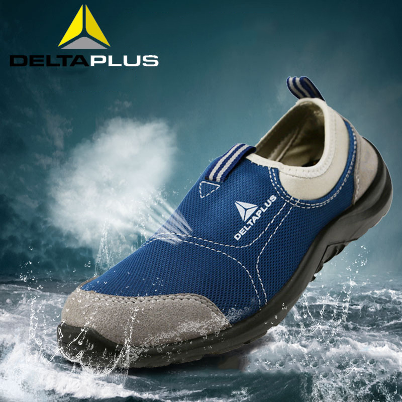 Deltaplus Safety Shoes Summer Breathable Steel Toe Labor Shoes Lightweight Work Anti-smashing Puncture-proof Protective Footwear