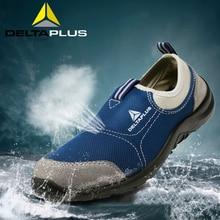 أحذية سلامة من Deltaplus أحذية صيفية قابلة للتنفس من صلب للأصابع أحذية عمل خفيفة الوزن مضادة للتحطيم ومقاومة للثقب أحذية واقية