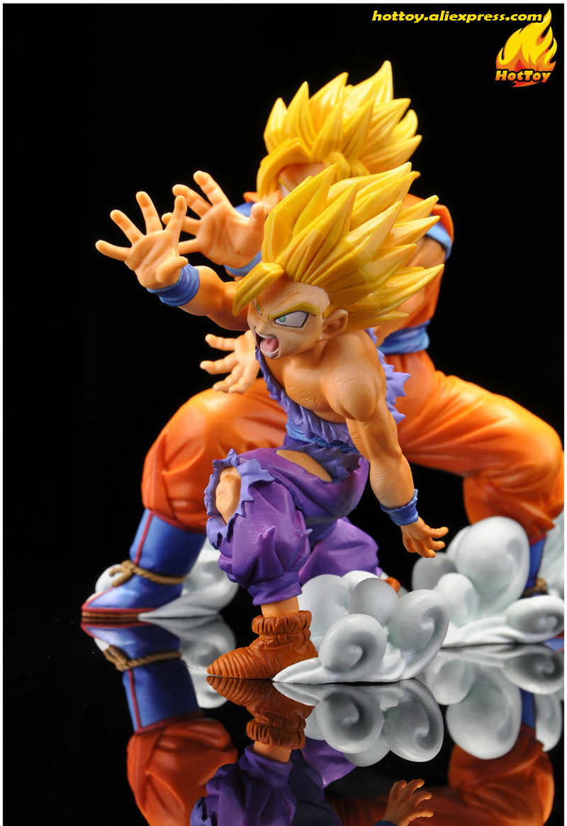 """Oyuncaklar ve Hobi Ürünleri'ten Aksiyon ve Oyuncak Figürleri'de 100% Orijinal Banpresto VS VARLıĞı Koleksiyonu Şekil SON GOKU & GOHAN gelen """"dragon topu Z""""'da  Grup 3"""