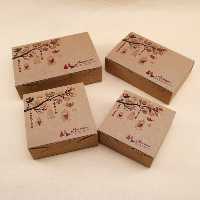 brown cake box moon cake packing box wedding festival party gift