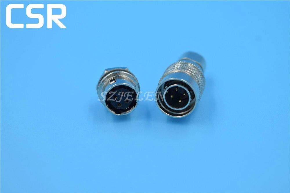Hirose Connector 4 pin , HR10A-10P-4P/HR10A-10R-4S, Male and female connectors 4 pin , Red camera cable connector 4 pin plug