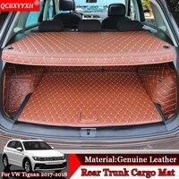 Car styling Car Floor Mat All Leather Tray Carpet Cargo Liner Custom Fit Car Trunk Mat Carpet For Volkswagen Tiguan 2017 2018