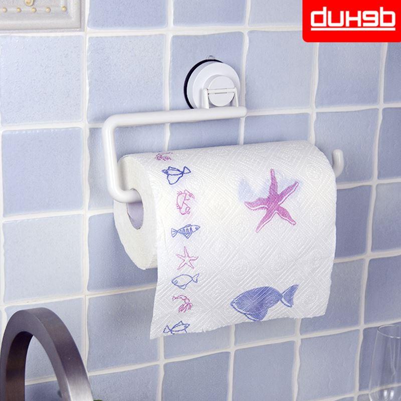 っSuction Wall Mounted KitchenTowel Rack Toilet Paper Holder Toilet ...