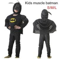 2016 Muscle Batman Costume Children Kid Boy Girl Halloween Costume The Spider Man Superhero Mask Ball
