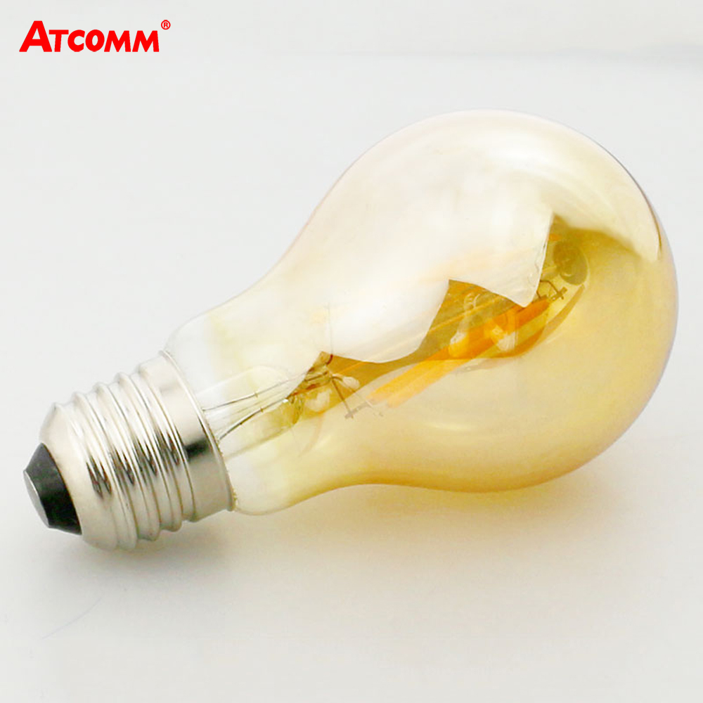 atcomm e27 led filament bulb 2w 4w 6w 8w a60 dimmable ampoule led e27 vintage antique retro. Black Bedroom Furniture Sets. Home Design Ideas