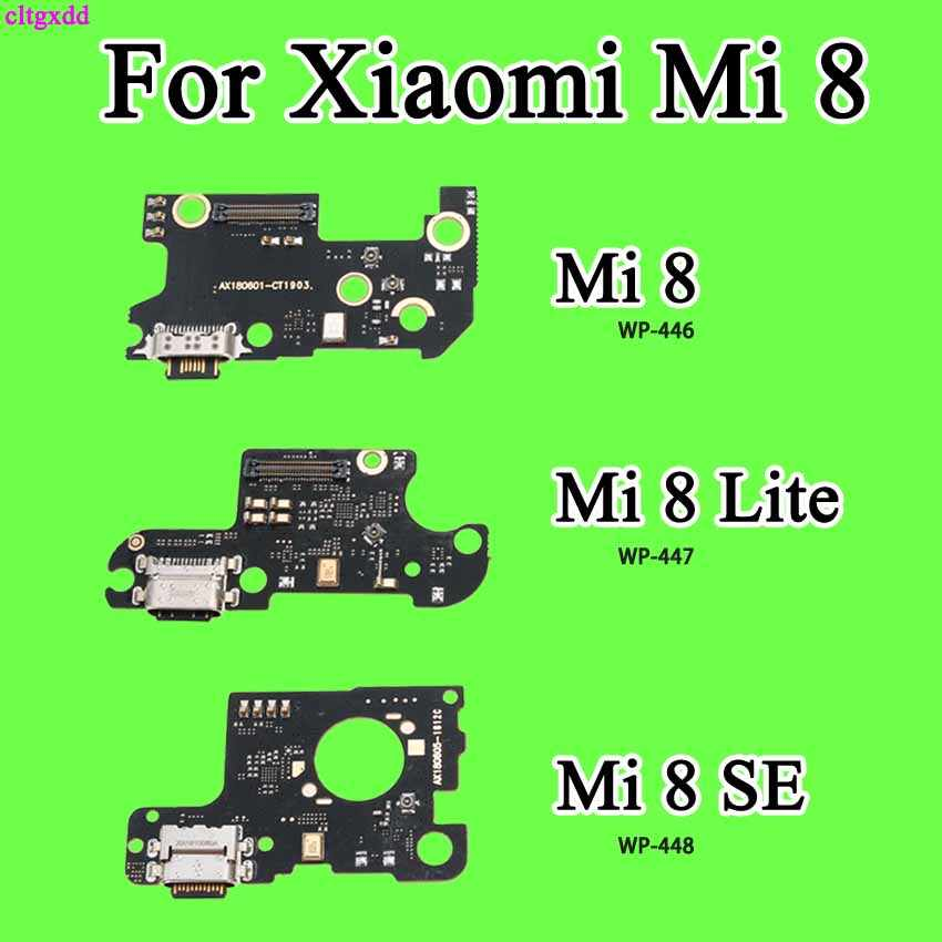 for xiao mi 8 mi8 m8 Charge Port Connector USB Charging Dock Mic Microphone Board Flex Cable Lysee Mobile Phone Flex Cables