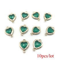 10pcs/lot Wholesel  Golden Heart Connector Charms for Jewelry Making Jewelry Diy Accessories электробритва panasonic es ct21