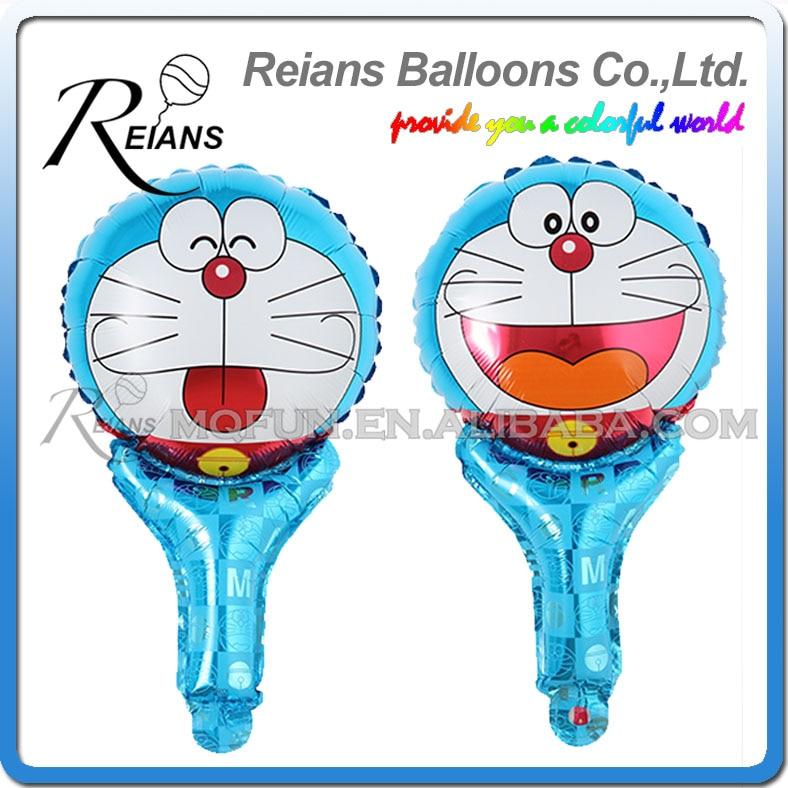 Wholesales 1000pcs REIANS 51cm cute Anime cartoon Doraemon children handheld Party birthday aluminum foil balloon Event toy gift