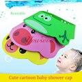 5 botões Ajustável Chapéu Do Bebê Criança Crianças Shampoo Banho de Chuveiro Cap Lavar o Cabelo Escudo Viseira Direto Tampas Para As Crianças Do Bebê cuidados