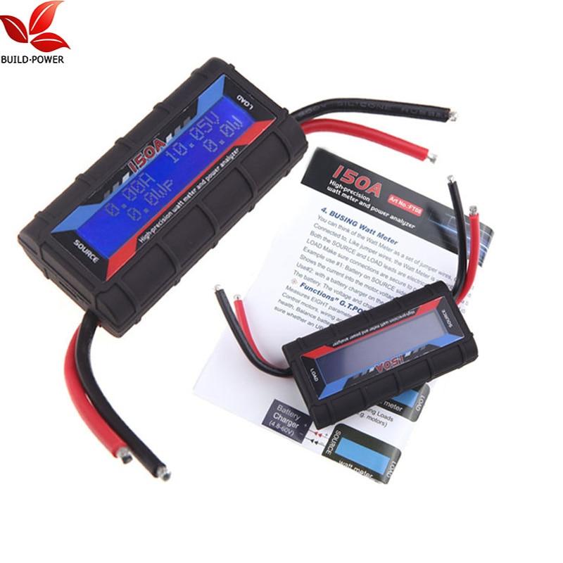 Build Power Current Power Analyzer 150A RC High Precision Power Analyzer & Watt Meter W/ Backlight LCD(China)