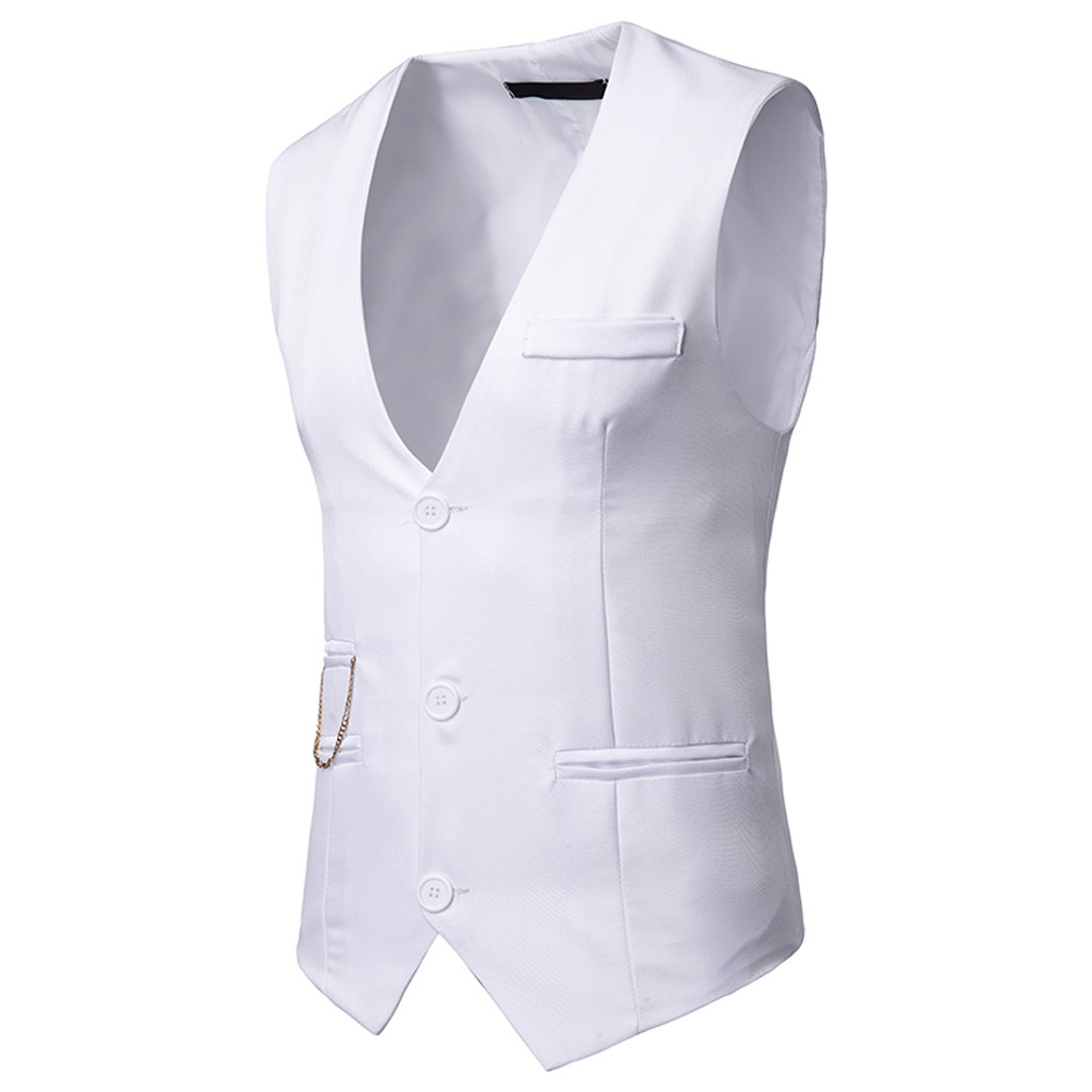 Vest Men Waistcoat Business Gold Casual New-Fashion for Tops Stamping Printing Summer