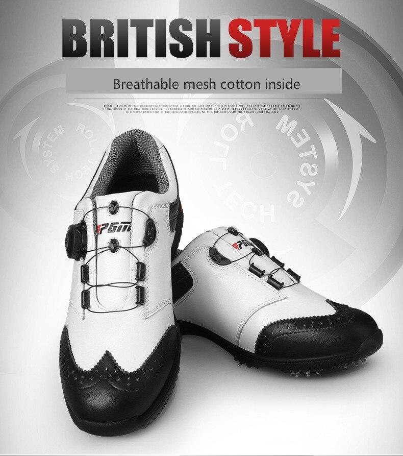 Pgm golfe sapatos dos homens conveniente confortável
