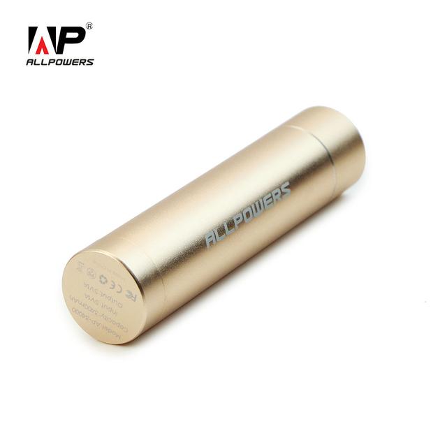 Allpowers mini 3400 mah portátil banco power pack bateria externa carregador do telefone terno para iphone samsung sony htc e muito mais.