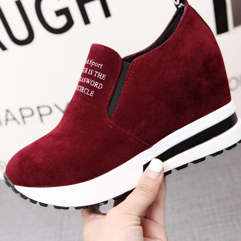 height increasing womens shoes wedge platform sneakers tenis