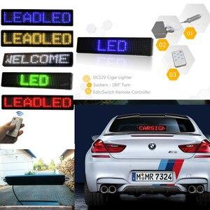 Image 5 - 23CM 12v LED רכב סימן שלט רחוק אופנוע אנגלית תצוגת לוח גלילה לתכנות הודעה כחול זול Diy קיט