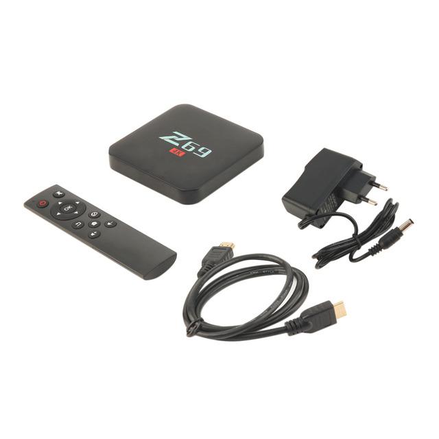 Promoção quente Z69 S905X Processador Cortex A53 1 + 16 GB de Memória Wifi Bluetooth 4.0 Caixa de TV Em Casa Top Para Android Player De Entretenimento