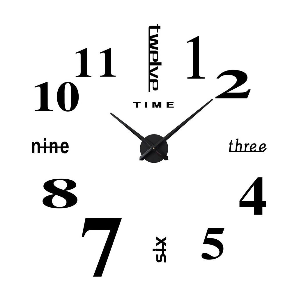 3D Effect Hanging Acrylic Wall Clock DIY Design Numerals Dial Diameter of 10CM Wall Clocks for Office Home Decorations