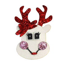 Adogirl Christmas Reindeer Hair Cips for Girls Shinny Sequins Handmade Hairgirps Xmas Party Headwear Boutique Accessories
